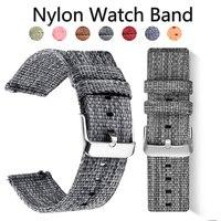 20 18 22 cinturino in Nylon 24mm per Samsung Galaxy 46 42mm orologio 3 Gear S3 Active 2 Frontier polso Sport tessuto per Huawei Watch Amazfit
