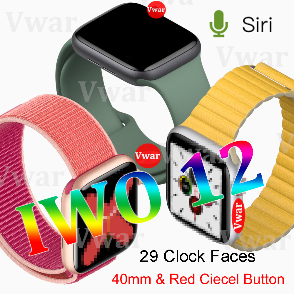 2019 IWO 12 Smart Uhr Serie 5 IWO12 <font><b>Smartwatch</b></font> für Apple <font><b>iPhone</b></font> IOS Android 40mm EKG Herz Rate Monitor PK iwo 11 8 plus 9 10 image