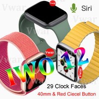 2019 IWO 12 Smart Watch Series 5 IWO12 Smartwatch for Apple iPhone IOS Android 40mm ECG Heart Rate Monitor PK iwo 11 8 plus 9 10