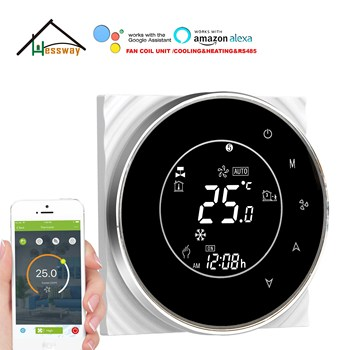 HESSWAY fan coil wifi thermostat RS485&MODBUS for remote control Works with Alexa Google home