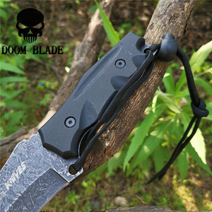 Image 5 - سكين مستقيم 8CR13MOV شفرة فولاذية ثابتة المحمولة التكتيكية أداة السكاكين جيدة للصيد التخييم بقاء في الهواء الطلق كل يوم
