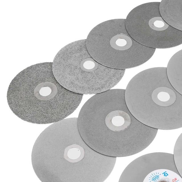 "4"" 100mm 80-3000# Diamond Coated Flat Lap Wheel Lapidary Polishing Grinding Disc"