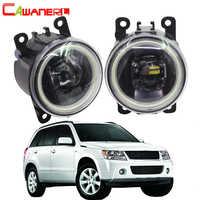 Cawaner pour Suzuki Grand Vitara 2/II véhicule tout-terrain fermé JT 2005-2015 voiture 4000LM LED antibrouillard assemblage ange Eye DRL 12V