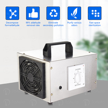 O₃ Ozone Generator 10g/h Ozonator Machine Air Purifier for Home , Car Air Cleaner deodorizer sanitizer with Timing Switch