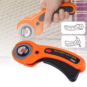 Cortador rotativo para manualidades DIY, herramienta de corte de tela, rueda de rodillo de retales, cuchillo redondo, accesorios de costura, tela de papel de cuero