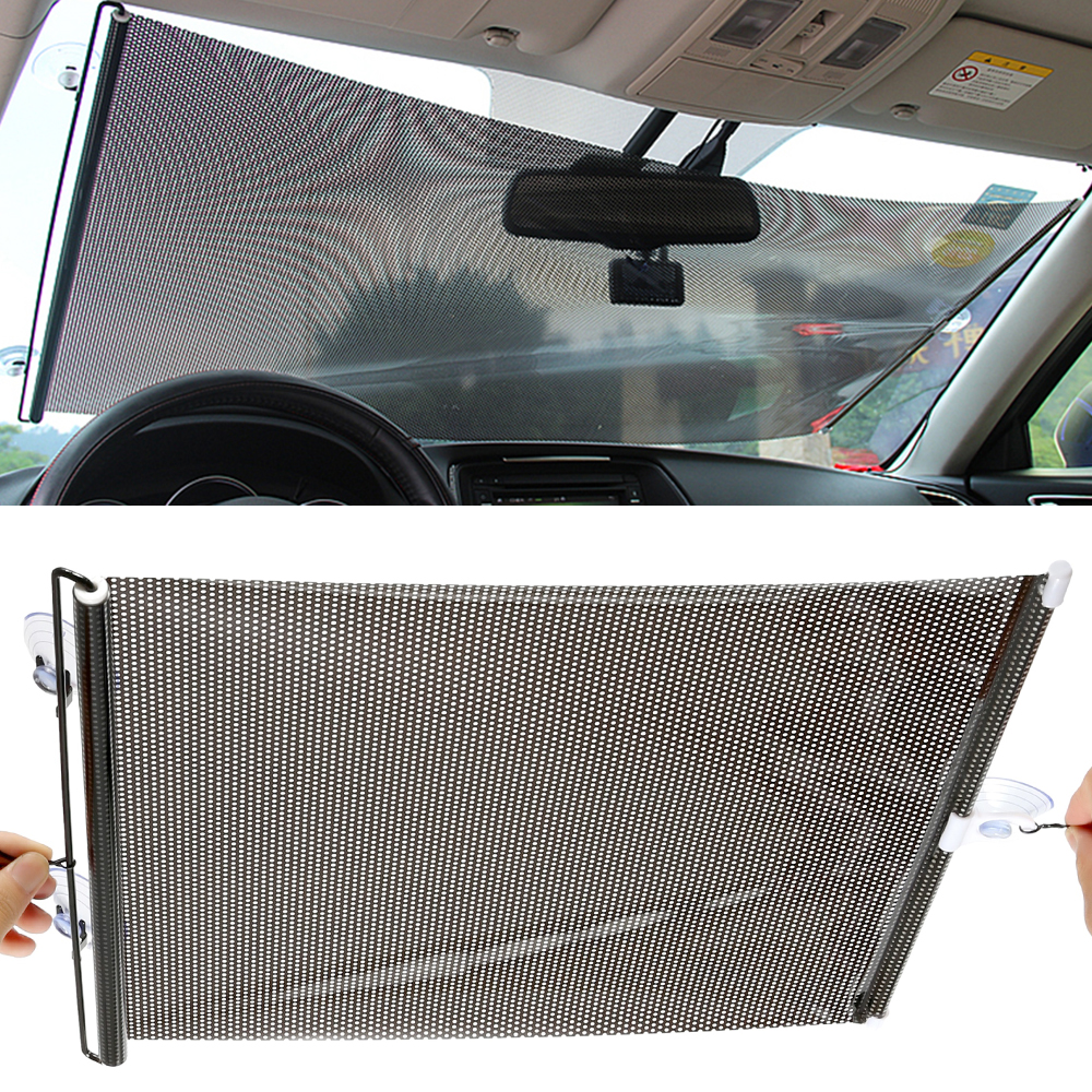 Car Windshield Sunshade Shield Auto Retractable Side Window Solar Protection Sun Shade Curtain Blinds Front Windscreen