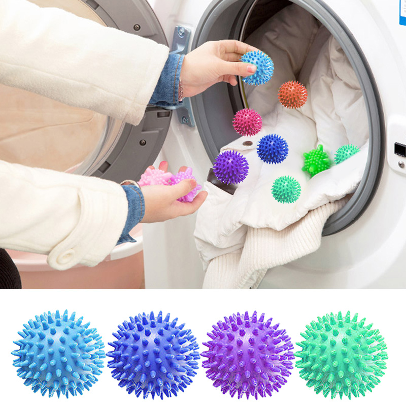 PVC Dryer Balls Reusable Clean Tools Laundry Washing Drying Fabric Softener Ball Dry Laundry Products Accessories Washing Ball