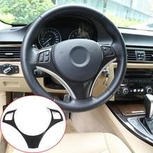 Botão do volante do carro decoração quadro guarnição para bmw série 3 e90 e92 e93 2005-12 1 série e82 e87 2004-2011 x1 e84 acessórios