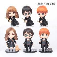 6 unids/set QPosket harri Potter Weasley Ron Hermione Granger Snape apretado PVC figura de acción de juguete muñeca de navidad regalo de cumpleaños