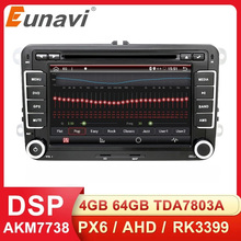 Eunavi 2 Din Android Auto DVD Car Radio Multimedia For VW GOLF 5 Polo Bora JETTA B6 PASSAT