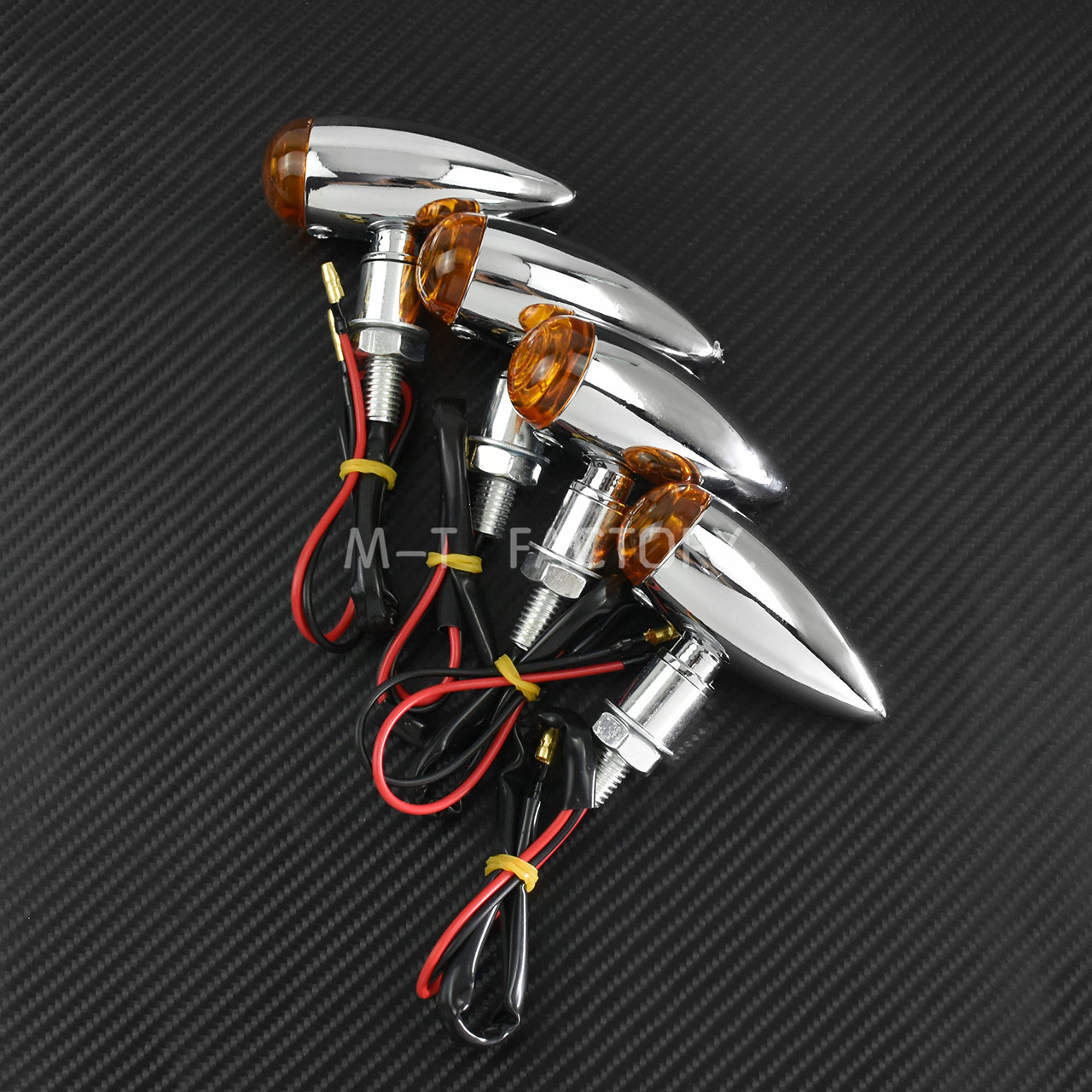 Sinal de seta para motocicleta, lâmpada cromada
