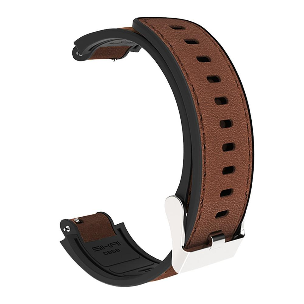 Leather + Silicone Smart Watch Band For Xiaomi Huami Amazfit Verge Bracelet Sport Wrist Straps