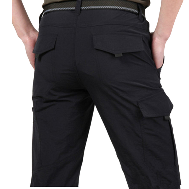 Breathable lightweight Waterproof Quick Dry Casual Pants Men Summer Army Military Style Trousers Men's Tactical Cargo Pants Male 2