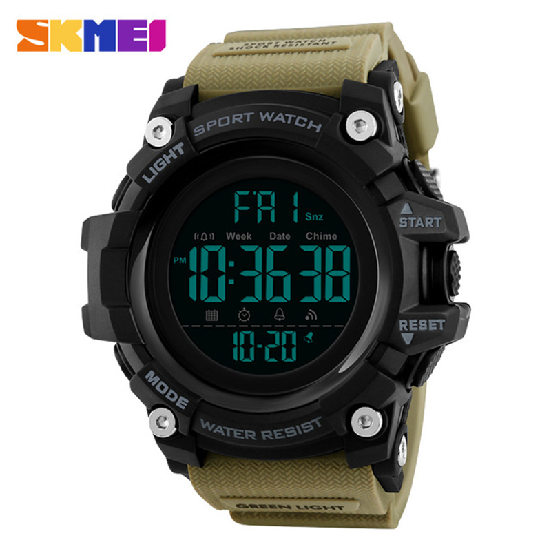 <font><b>SKMEI</b></font> Sports Digital Wacthes Men 5bar Waterproof Double Time LED Display Wristwatches Man Alarm Clock Relogio Masculino <font><b>1384</b></font> image