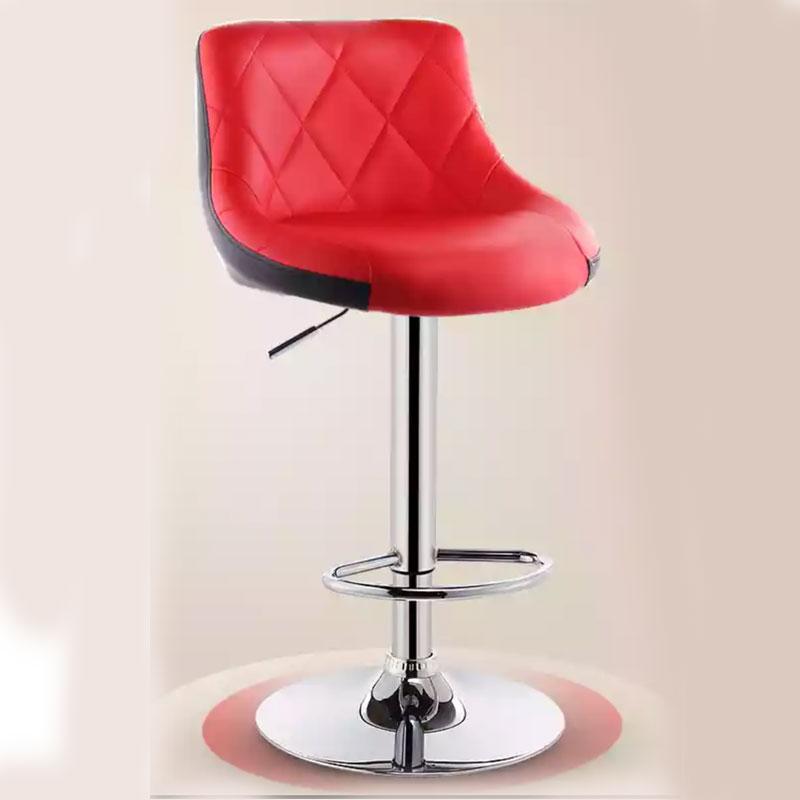 Modern Bar Chair Can Lift Household Front Desk Bar Creative Simple Backrest PU Leather Leisure High Chair