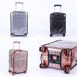 Pvc transparente impermeável espessamento resistente ao desgaste trole caso desmontagem livre bagagem capa protetora