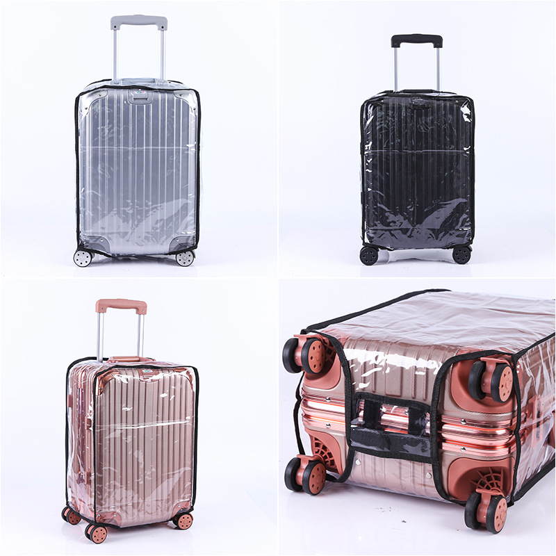 Transparent PVC Waterproof Thickening Wear-resistant Trolley Case Free Disassembly Luggage Protective Cover