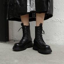Женские ботинки sophitina кожаные ботильоны ручной работы простая