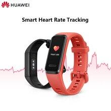 오리지널 화웨이 밴드 4 스마트 밴드 스마트 시계 팔찌 심박수 건강 모니터 새로운 시계 얼굴 USB 플러그 충전 방수