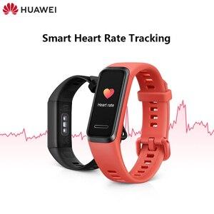 Image 1 - מקורי Huawei להקת 4 חכם להקת חכם שעון צמיד לב קצב בריאות צג חדש שעון פרצופים USB תשלום התוספת עמיד למים