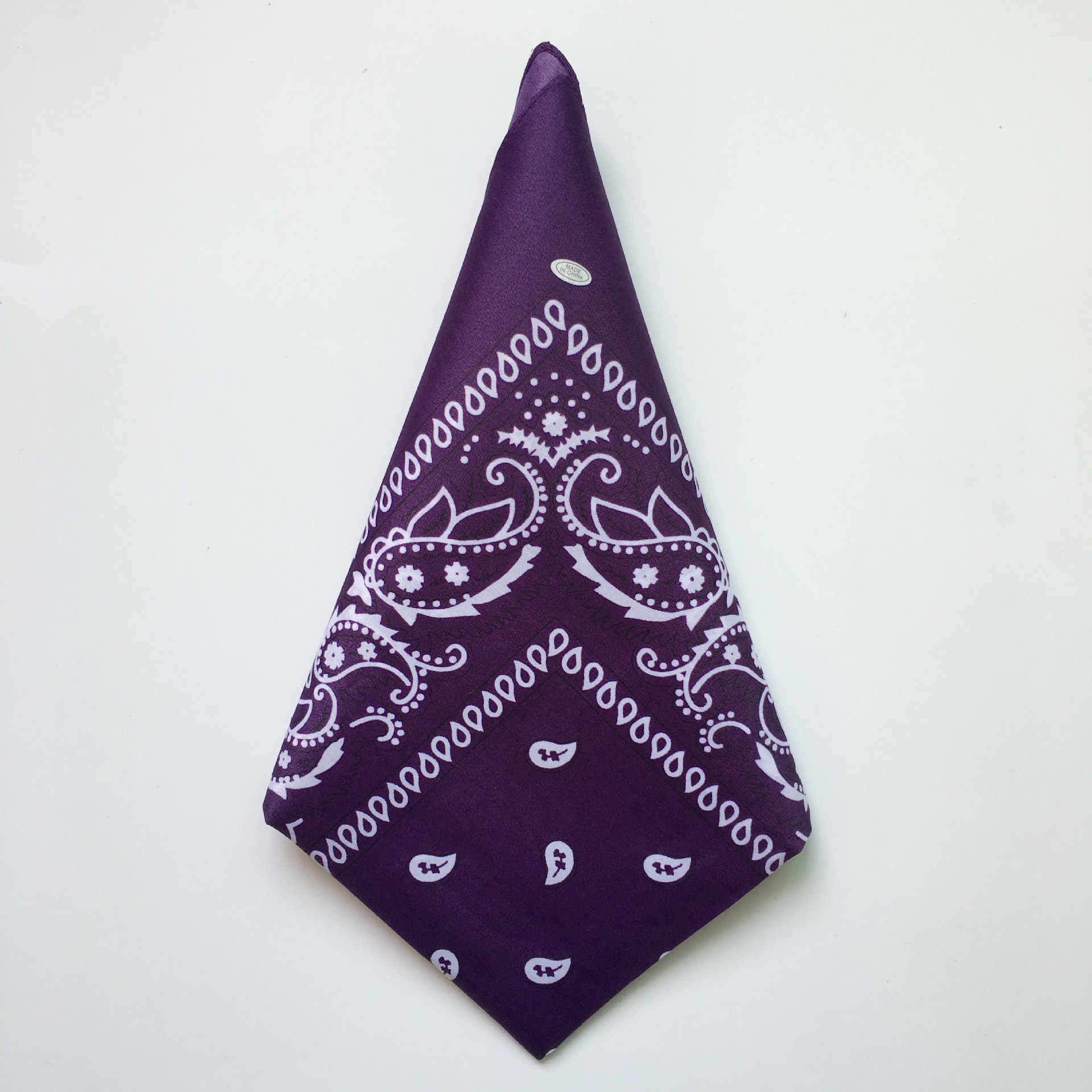 แฟชั่นHip Hop Cotton Bandanasผ้าพันคอCashew Floral HeadbandคาวบอยMens BikerกีฬาHeadwearผมข้อมือWraps 55ซม.* 55ซม.