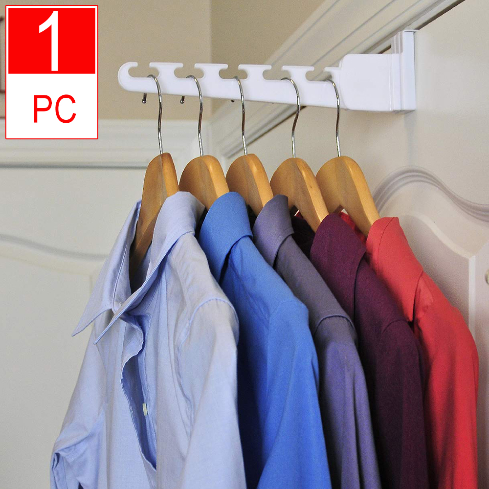 Multifunctional Magic Door Hangers With Hook For Clothes Towel Bag Key Space Saving Bathroom Kitchen Over Door Organizer