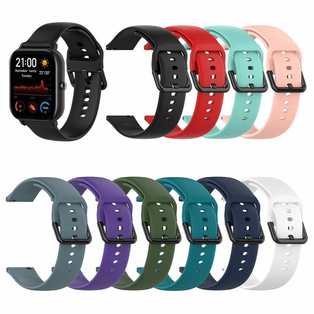 Strap Bracelet GTS Huami Amazfit Sport Soft Silicone Replacement Watch Band Wrist Straps for Huami Amazfit Smart accessories FW3