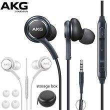 AKG Наушники EO IG955 3,5 мм в уши проводной микрофон Регулятор громкости гарнитура для Samsung Galaxy S10 S9 S8 S7 S6 huawei xiaomi смартфон