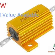 Полная стоимость 25W Алюминий Мощность металлический корпус проволочный резистор 0,01~ 30K 0,05 0,1 0,5 на возраст 1, 2, 3, 5, 6, 8 10 20 100 150 200 1K ohm