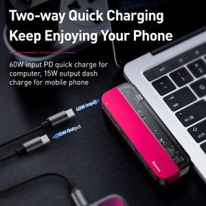 Image 5 - Baseus conector USB C a Multi HDMI, USB 3,0, adaptador para MacBook, accesorios, Pro Thunderbolt 3, lector de tarjetas SD, tipo C