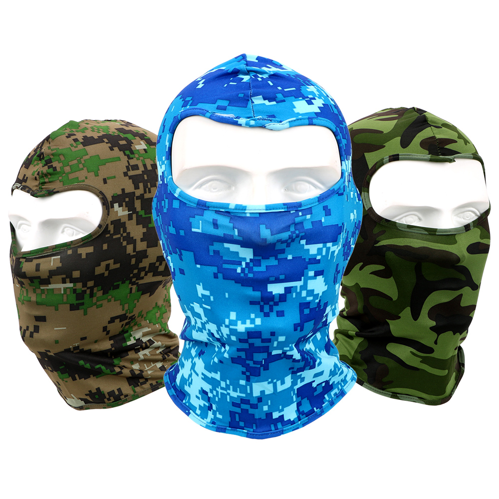 LEEPEE Breathable For Cycling Ski Snowboard Sports Camouflage Motorcycle Face Mask Quick Drying Full Face And Neck Wind Cap