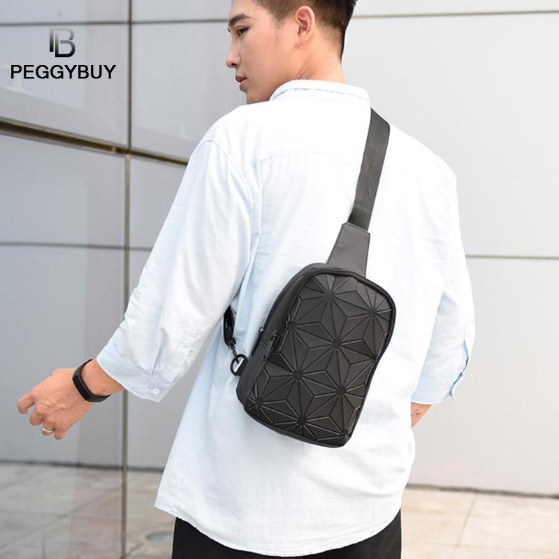 Fashion Luminous Waist Bag Women Fanny Pack Belt Bag Luxury Brand Chest Bags Women Men Geometric Travel Crossbody Shoulder Bags