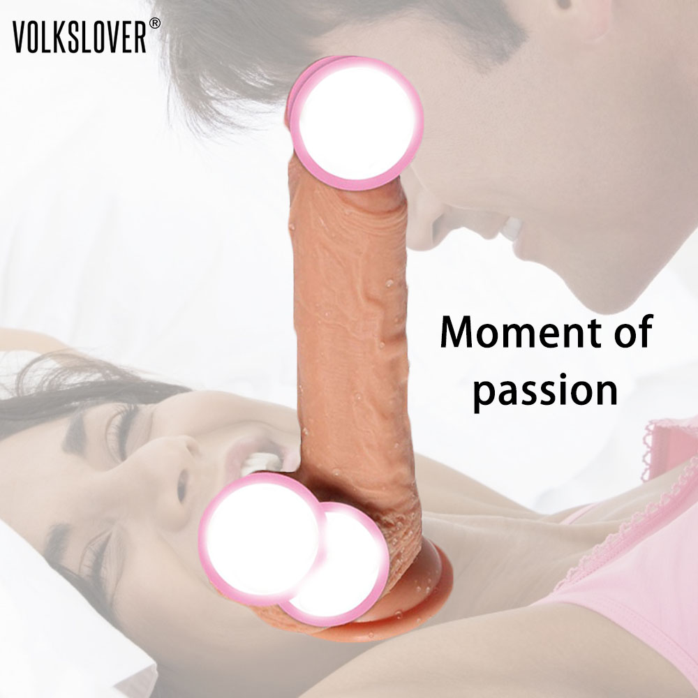 VOLKSLOVE 23 CM Realistic Penis Super Huge Big Dildo With Suction Cup No Vibrators Adult Toys Adult Products Female For Women