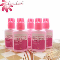 5pcs Korea Pink Gel Remover For Eyelash and Eyebrow Extensions Glue 15g