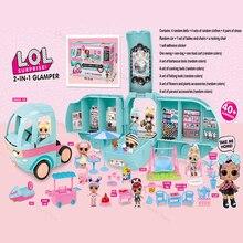 Оригинальные куклы LOL Surprise DIY 2-в-1 автобусная игрушка GLAMPER Lol кукла игровой домик игры сюрприз L.O.L Игрушки для девочек Подарки на день рождения