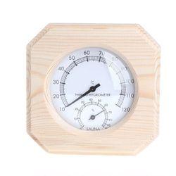 Nowa drewniana Sauna boczna termometr z miernikiem wilgotności Sauna domowa odporny na temperaturę akcesoria (bez akumulatora) HF w Wskaźniki temperatury od Dom i ogród na