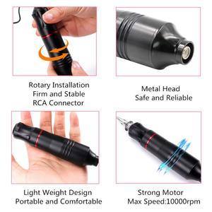 Image 5 - Neue RCA Patrone Tattoo Maschine Stift Mit Starke Ruhigen Motor Permanent Make Up Tattoo Augenbraue Stift Maschine Gun Kostenloser Versand