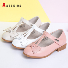 ABCkids New Spring Autumn Girls Soft Leather Shoes Children Girls Princess Bowknot Sneakers Single Shoes Kids Dance Shoes Rubber abckids new spring autumn girls soft leather shoes children girls princess bowknot sneakers single shoes kids dance shoes rubber