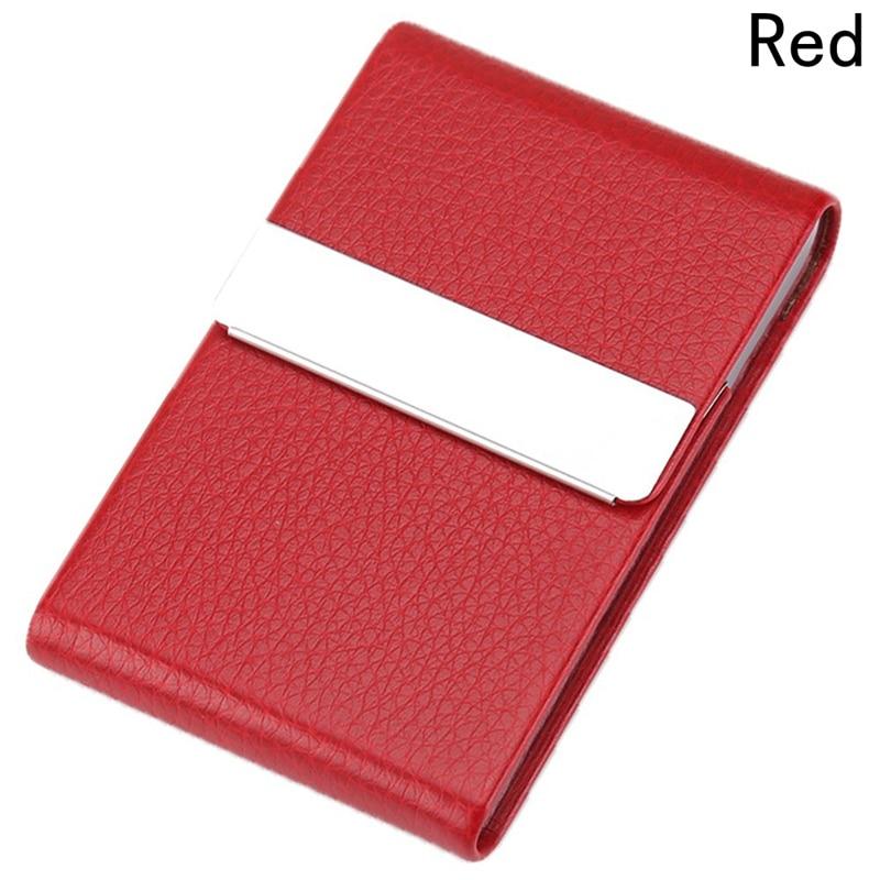 Визитница унисекс, высокое качество, кредитная карта, пакет, держатель для карт, двойной открытый чехол для визиток, Titular De La Tarjeta - Цвет: Красный