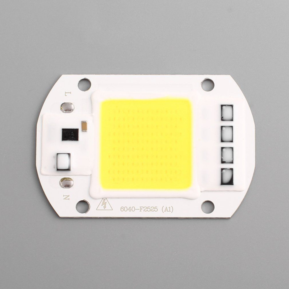 IP63 Waterproof 50W LED COB Chip AC 110V 220V Smart Integrated High Luminous LED Chip DIY Floodlight Cold White/ Warm White
