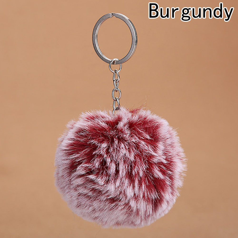 1PC New Fluffy Hair Ball <font><b>Key</b></font> Chain <font><b>Rings</b></font> Pendant For Women Cute <font><b>Pompom</b></font> Artificial Keychain Car Bag <font><b>Key</b></font> <font><b>Ring</b></font> image