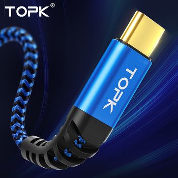 TOPK Micro USB Type C Cable 3A Fast Charging for Samsung Xiaomi Huawei Mobile Phone Data Cable Type-C for Xiaomi Redmi Note 8