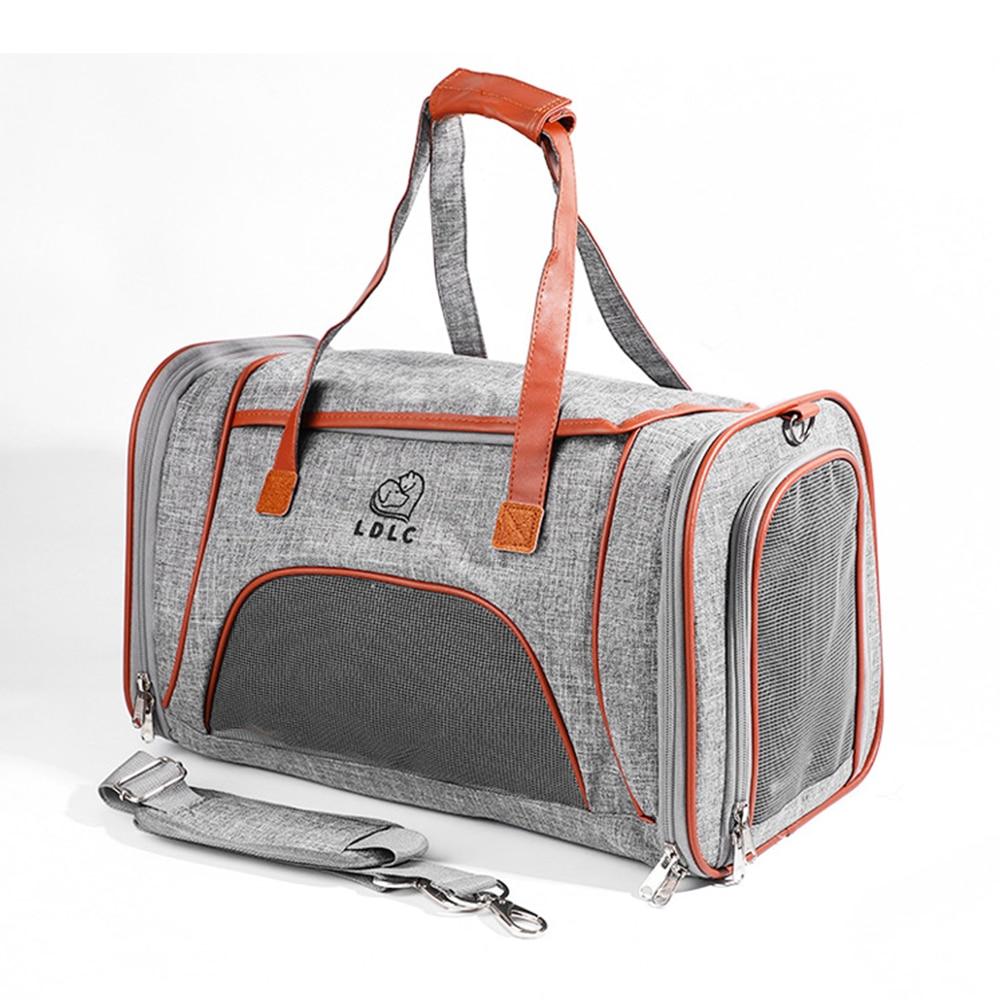 Сумки для перевозки животных портативная маленькая дорожная сумка для собак ткань Оксфорд Мягкая Сторона дышащая переносная сумка для дом...