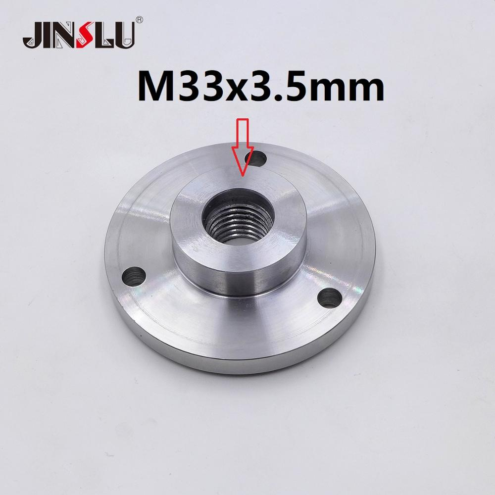 M33x3.5mm M33 Spindle Thread Chuck Flange Back Plate Base Plate Adapter Plate K11-80 K12-80 K11-100 K12-100