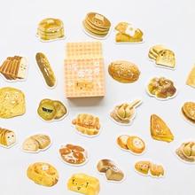 46 pcs /Box Happy Bread Hamburger DIY Decorative Stickers