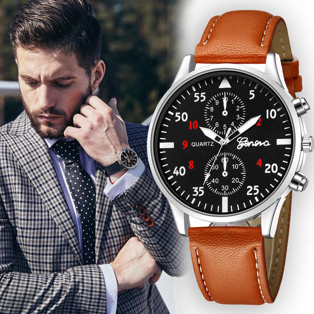 Relogio Masculino Uhr Männer Mode Leder Band Wasserdicht Analog Quarz Damen Kleid Armbanduhr Luxus Männliche Uhr Dropship O/6