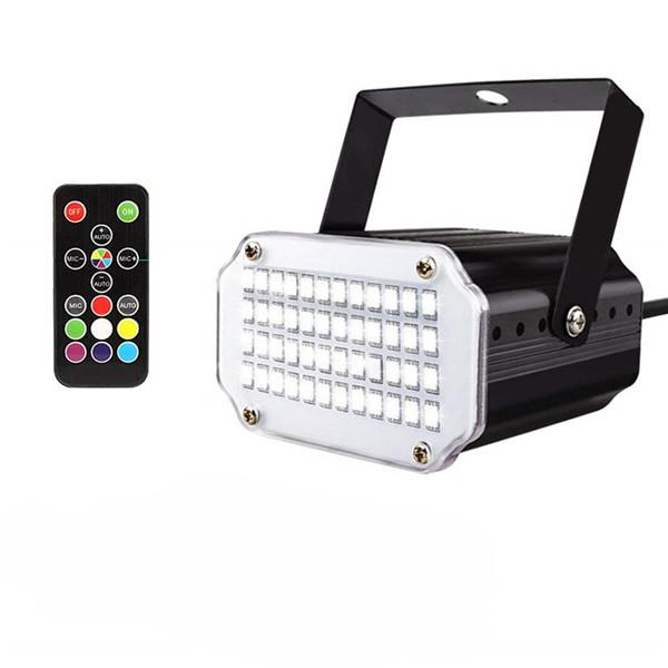 48LEDs 7Colors Strobe Light With Remote Sound Activated Super Bright Flashing Stage Light For DJ Party Show Club Disco