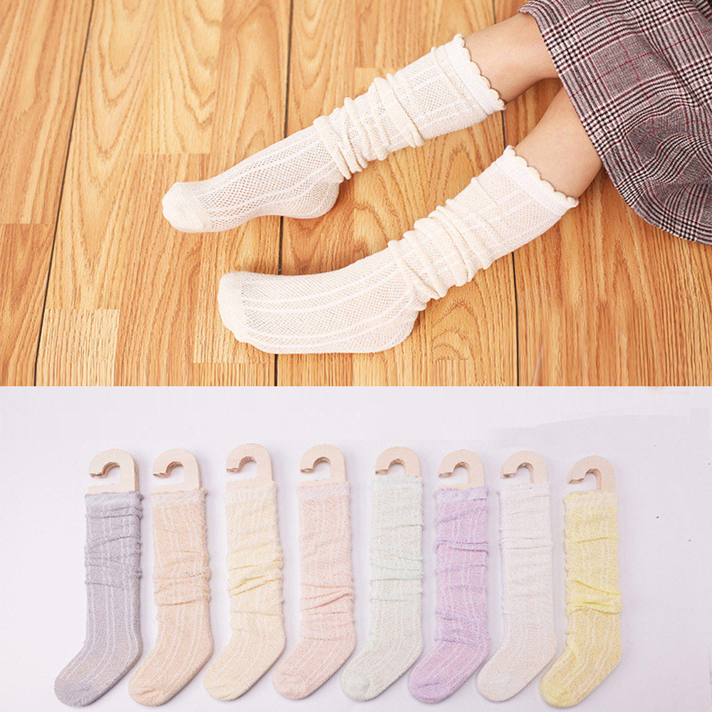 Cute Kids Tights Knee  1 Pairs Cotton Knee High Socks Casual Stockings For Baby Boys Girls Toddler Kids For 2-8 Years Old Baby