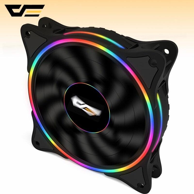 Aigo arkflash 120mm computador portátil ultra d1 led ventilador 120mm4pin desktop computador cooler silencioso caso ventilador ventiladores de refrigeração