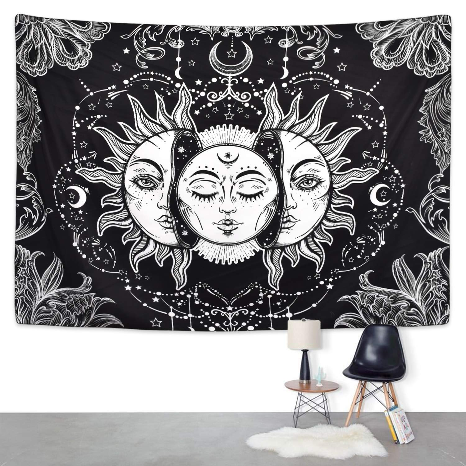 2019 New Polyester Tarpaulin Tapestry Rectangle Wall-Mounted Blanket European Style Home Decoration Hot